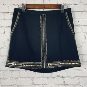 Madewell -Black Sequin Mini Skirt